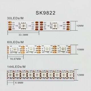 Sk9822 RGB Clock LED Strip 5V 144 Leds - 1 Meter Rolle