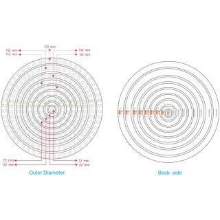RGB Led Ring - Typ WS2811 addressable 5050 smd 1 led - 12mm - 0,18w