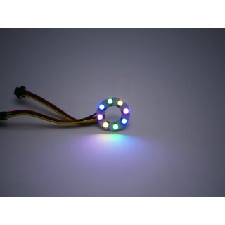 RGB Led Ring - Typ WS2811 addressable 5050 smd 8 leds - 32mm - 1w