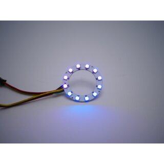 RGB Led Ring - Typ WS2811 addressable 5050 smd 12 leds - 52mm - 3w