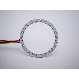 RGB Led Ring - Typ WS2811 addressable 5050 smd 24 leds - 92mm - 7w