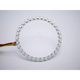 RGB Led Ring - Typ WS2811 addressable 5050 smd 32 leds - 112mm - 9w