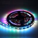 RGB LED Flex Strip mit doppelter Datenleitung - 60 Leds/Meter 5 Meter Typ WS2813 IP20