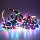 RGB LED Flex Strip mit doppelter Datenleitung - 60 Leds/Meter 5 Meter Typ WS2813 IP65