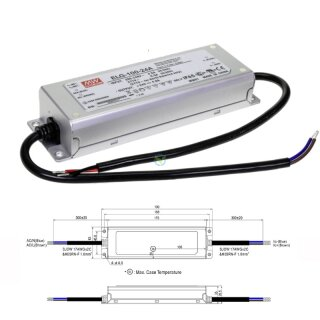 Mean Well ELG-150-24A Netzteil LED-Trafo IP65 Konstantspannung 150 Watt 24VDC